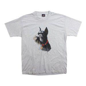 VTG 90s Terrier Dog Single Stitch Teletrend Shirt